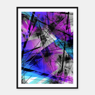 Thumbnail image of Lines of Departure - Futuristic Geometric Abstrct Art Framed poster, Live Heroes