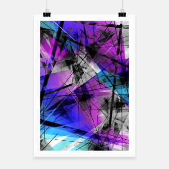 Thumbnail image of Lines of Departure - Futuristic Geometric Abstrct Art Poster, Live Heroes