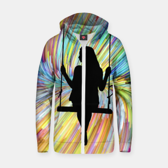 Thumbnail image of Women on a Swing Zip up hoodie, Live Heroes