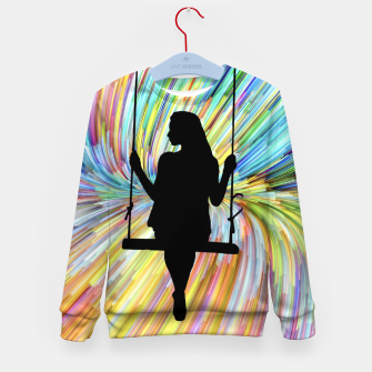 Thumbnail image of Women on a Swing Kid's sweater, Live Heroes