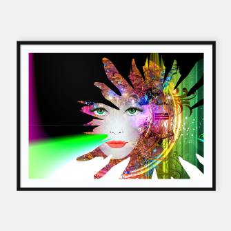 Thumbnail image of Face of the universe Framed poster, Live Heroes
