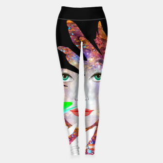 Thumbnail image of Face of the universe Leggings, Live Heroes