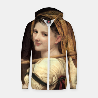 Thumbnail image of Return Of The Market by William-Adolphe Bouguereau Zip up hoodie, Live Heroes