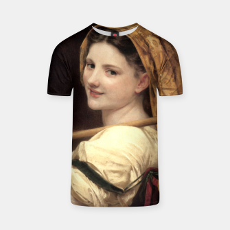 Thumbnail image of Return Of The Market by William-Adolphe Bouguereau T-shirt, Live Heroes