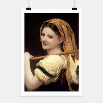 Thumbnail image of Return Of The Market by William-Adolphe Bouguereau Poster, Live Heroes
