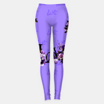 Miniaturka elysian flowers floral love letters seamless pattern purple Leggings, Live Heroes