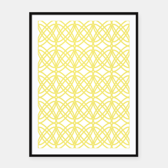 Imagen en miniatura de Abstract pattern - gold and white. Framed poster, Live Heroes