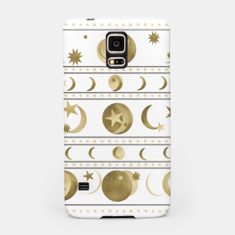 Thumbnail image of Dreamy Golden Moon and Star Pattern #1 #decor #art  Handyhülle für Samsung, Live Heroes