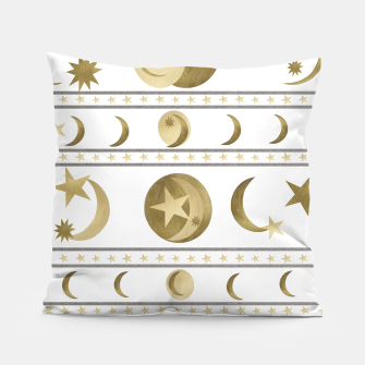 Thumbnail image of Dreamy Golden Moon and Star Pattern #1 #decor #art  Kissen, Live Heroes