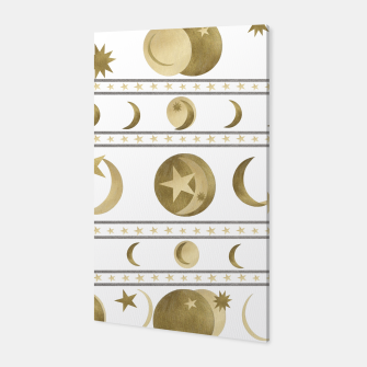Thumbnail image of Dreamy Golden Moon and Star Pattern #1 #decor #art  Canvas, Live Heroes