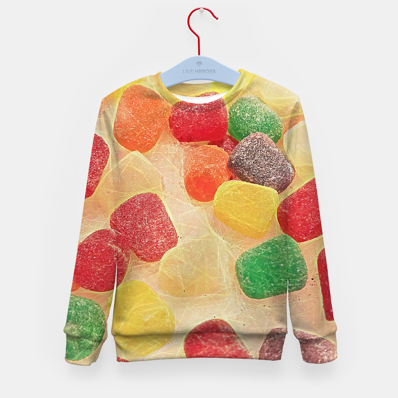 Image of Gum Drops in The Snow Kid's sweater - Live Heroes