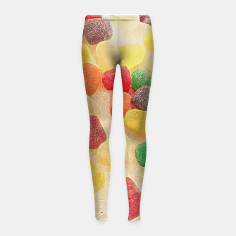 Thumbnail image of Gum Drops in The Snow Girl's leggings, Live Heroes