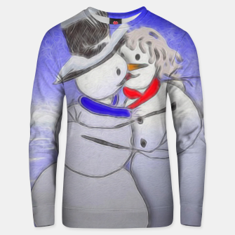 Thumbnail image of Kissing Snow Couple Unisex sweater, Live Heroes