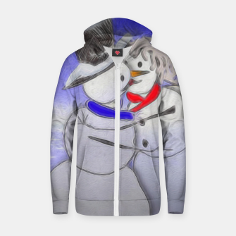 Thumbnail image of Kissing Snow Couple Zip up hoodie, Live Heroes