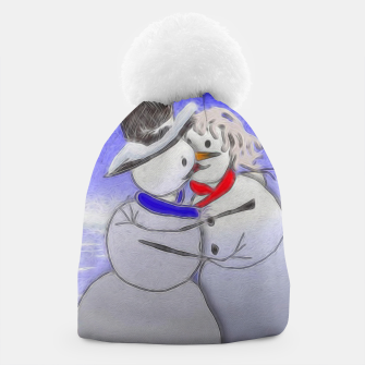 Thumbnail image of Kissing Snow Couple Beanie, Live Heroes
