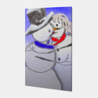 Thumbnail image of Kissing Snow Couple Canvas, Live Heroes