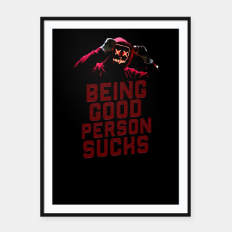 Thumbnail image of Good Person Framed poster, Live Heroes