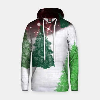 Thumbnail image of Trees on a Christmas Hill Hoodie, Live Heroes