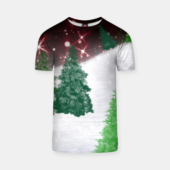 Thumbnail image of Trees on a Christmas Hill T-shirt, Live Heroes