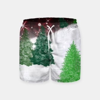 Thumbnail image of Trees on a Christmas Hill Swim Shorts, Live Heroes