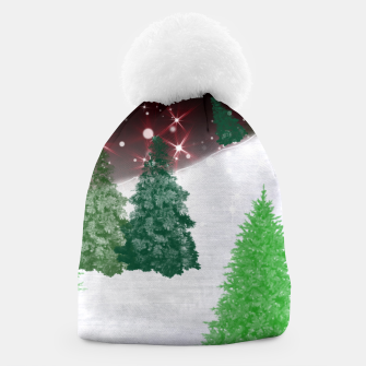 Thumbnail image of Trees on a Christmas Hill Beanie, Live Heroes