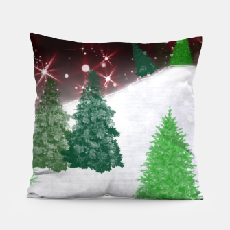 Thumbnail image of Trees on a Christmas Hill Pillow, Live Heroes