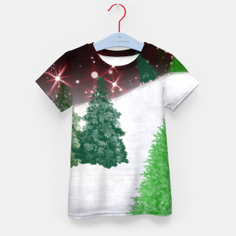 Thumbnail image of Trees on a Christmas Hill Kid's t-shirt, Live Heroes