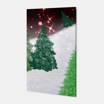Thumbnail image of Trees on a Christmas Hill Canvas, Live Heroes