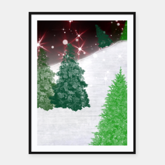 Thumbnail image of Trees on a Christmas Hill Framed poster, Live Heroes