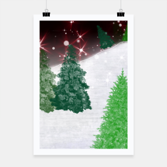 Thumbnail image of Trees on a Christmas Hill Poster, Live Heroes