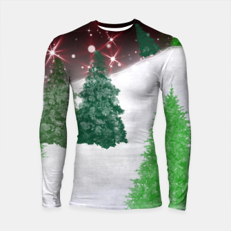 Thumbnail image of Trees on a Christmas Hill Longsleeve rashguard , Live Heroes