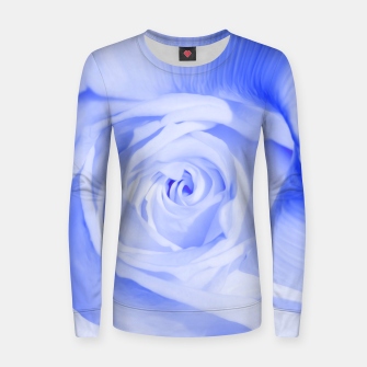 Thumbnail image of rose liquid deep blue Women sweater, Live Heroes