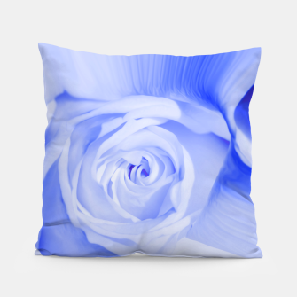 Thumbnail image of rose liquid deep blue Pillow, Live Heroes