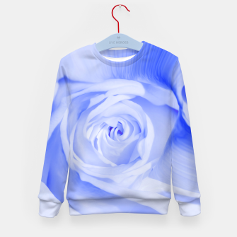 Thumbnail image of rose liquid deep blue Kid's sweater, Live Heroes