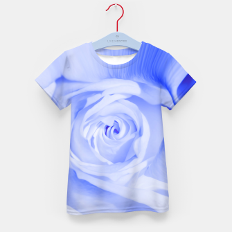 Thumbnail image of rose liquid deep blue Kid's t-shirt, Live Heroes