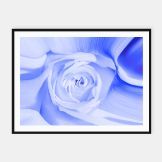 Thumbnail image of rose liquid deep blue Framed poster, Live Heroes