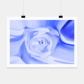 Thumbnail image of rose liquid deep blue Poster, Live Heroes