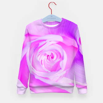 Thumbnail image of rose liquid violet Kid's sweater, Live Heroes