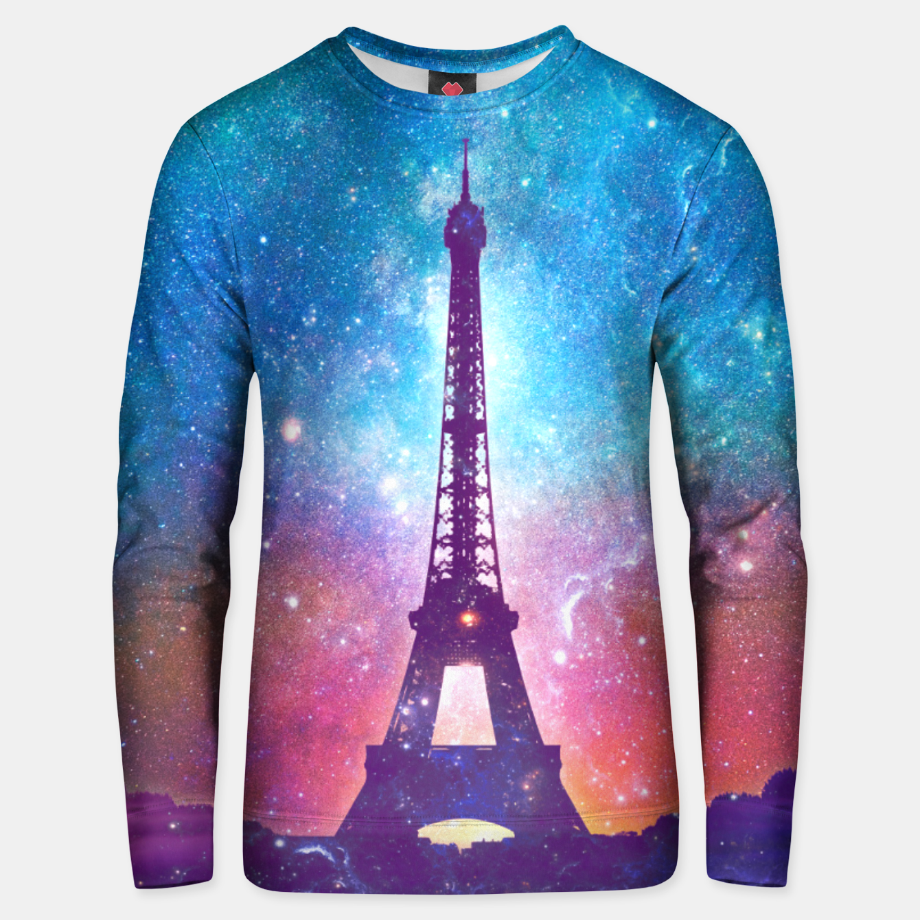 Image of Eiffel Tower - Milky Way Collage Unisex sweater - Live Heroes