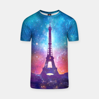 Eiffel Tower - Milky Way Collage T-shirt thumbnail image