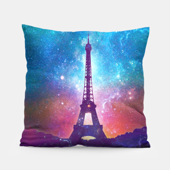 Eiffel Tower - Milky Way Collage Pillow thumbnail image