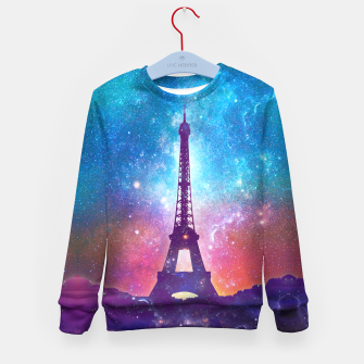 Eiffel Tower - Milky Way Collage Kid's sweater thumbnail image