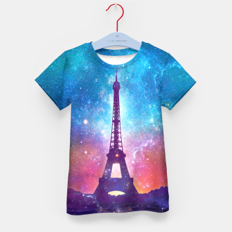 Eiffel Tower - Milky Way Collage Kid's t-shirt thumbnail image