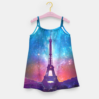Eiffel Tower - Milky Way Collage Girl's dress thumbnail image