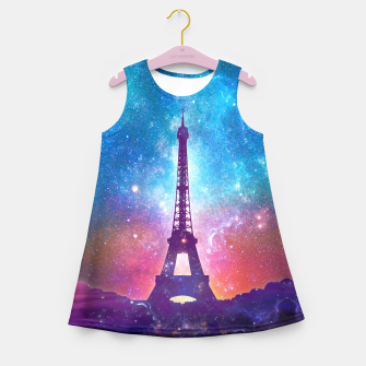 Eiffel Tower - Milky Way Collage Girl's summer dress thumbnail image