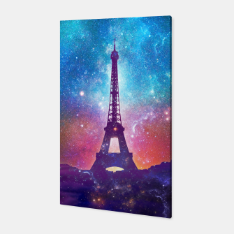 Miniaturka Eiffel Tower - Milky Way Collage Canvas, Live Heroes