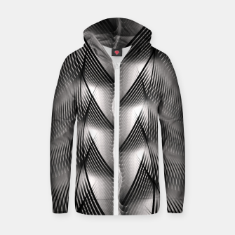 Thumbnail image of Channel Weave Zip up hoodie, Live Heroes