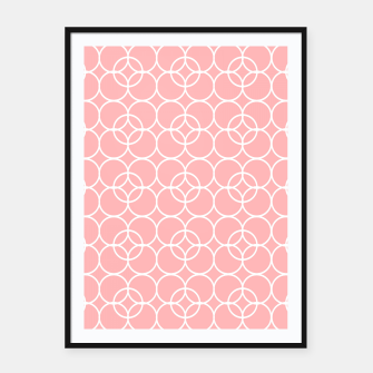 Imagen en miniatura de Abstract - pink and white. Framed poster, Live Heroes