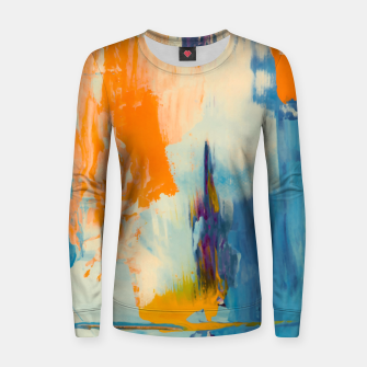 Miniatur Abstract Patches Women sweater, Live Heroes