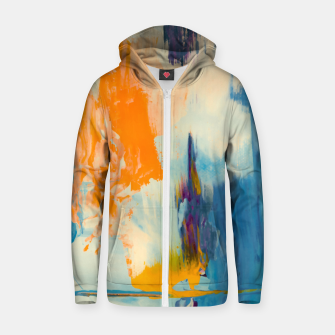 Thumbnail image of Abstract Patches Zip up hoodie, Live Heroes